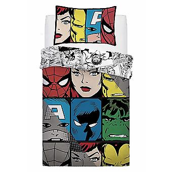 Marvel Comic Tones Single Duvet Cover