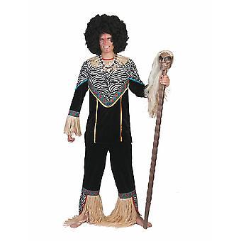 Costume d'homme de prince tribal africain Voodoo Wizard Costume hommes