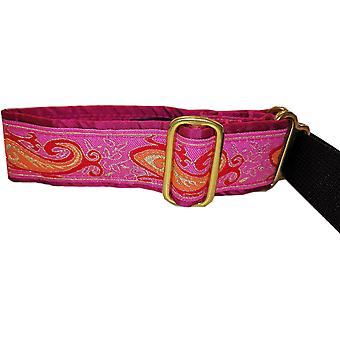 Dogcrafts Martingale 40-25mm Drop Hot Pink Paisley Taffeta gefüttert
