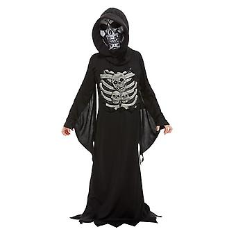 Niños Skeleton Seaper vestido de lujo disfraz de Halloween