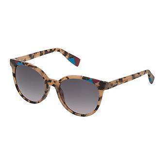 Furla SFU229 07UX Brown-Beige Havana/Smoke Gradient Beige Sunglasses