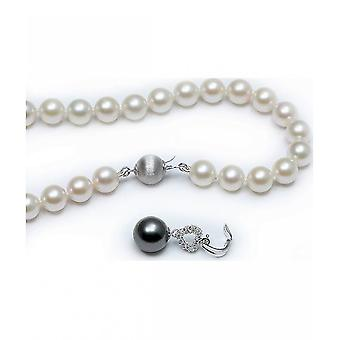 Luna-Pearls Akoya Pearl Necklace with Tahiti Pearl and Diamonds HKS128