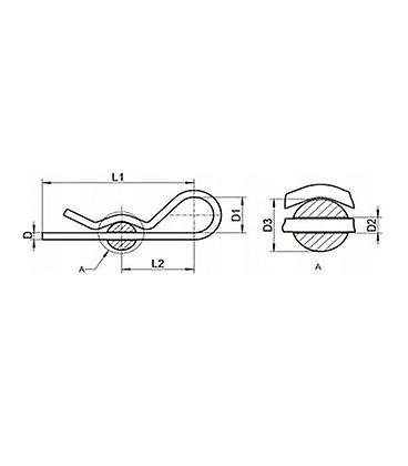 Beta Pin / R Pin T304 (a2) Stainless Steel 6 Mm X 110 Mm