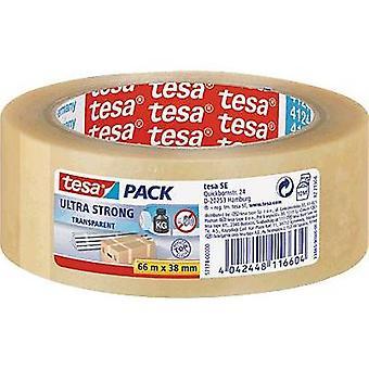 tesa 57174-00000-01 شريط التعبئة والتغليف tesapack® شفافة فائقة القوية (L x W) 66 م × 38 ملم 66 م