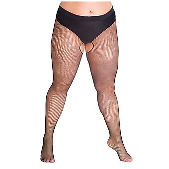 Lida Plus Size Fishnet Crotchless Tights