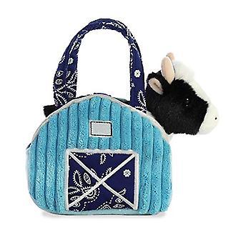 """Aurora 7 """" Aqua Blue Barn Pet Carrier Plüsch Spielzeug, ausgefallene Pals Kuh"""