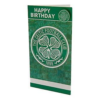Celtic FC Birthday Card And Badge