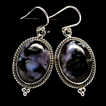"Gabbro Earrings 1 1/2"" (925 Sterling Silver)  - Handmade Boho Vintage Jewelry EARR395064"