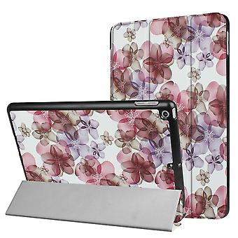 For iPad 2018,2017 9.7in Case,Flowery Durable Protective 3-fold Leather Cover