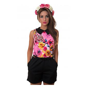 Milkshake Floral Playsuit In