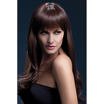 Smiffy's Fever Sienna Wig - Brown