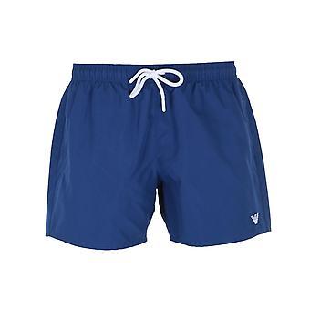 Emporio Armani Small Logo Ocean Blue Swim Shorts