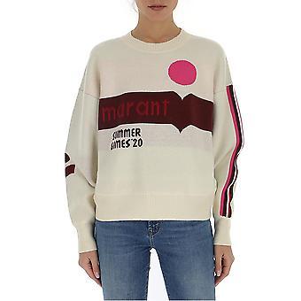 Isabel Marant ÉToile 20ppu118120p047epiec Women's White Cotton Sweater