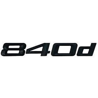 Matt Black BMW 840d Car Model Rear Boot Number Letter Sticker Decal Badge Emblem For 8 Series G14 G15 G16
