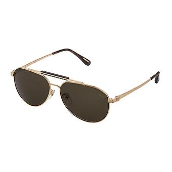 Dunhill SDH190 0300 Shiny Total Rose Gold/Brown Sunglasses