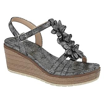 Cipriata Womens/Ladies Nina Flower High Wedge Sandal