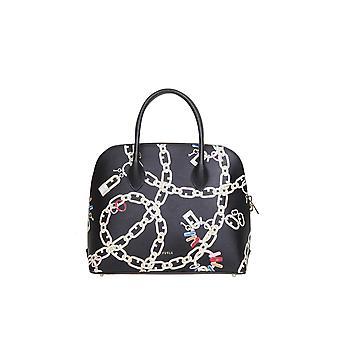 Furla 1065951 Women's Black Leather Handbag