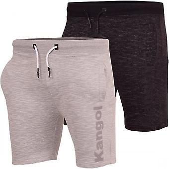 Kangol Original Mens Fleece Shorts Elastisk midja Sommar Jogging Shorts Sport Training Lounge