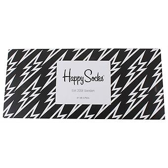 Happy Socks Multi Pattern Gift Box 4 Pack Socks - Black/White
