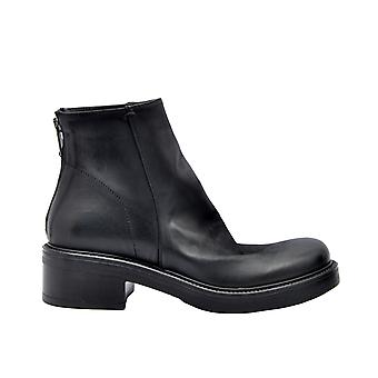 Strategia P2362blk Women's Black Leather Ankle Boots