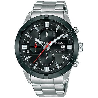 Pulsar active Quartz Analog Man Watch with PM3171X1 Stainless Steel Bracelet