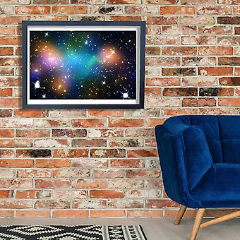 Hubble Telescope - Abell 520 Poster Print Giclee