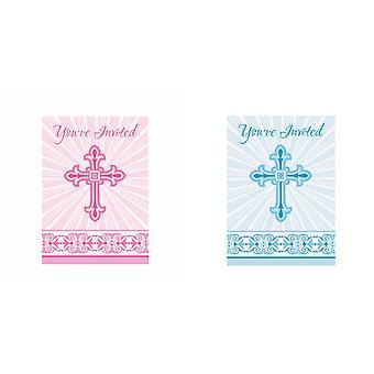 Предлагает уникальные партии Сияющий крест бумага дизайн крестины (комплект из 8)