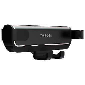 Bakeey métal gravity linkage automatique serrure porte-air de téléphone de voiture d'évent pour 4.7-6.5 pouces téléphone intelligent