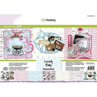 CraftEmotions Papier stapel Lovely Baby 11 vellen A4