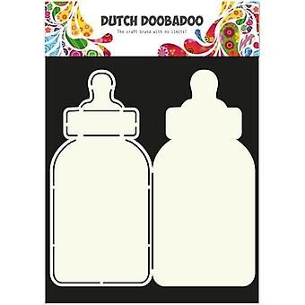الهولندية Doobadoo الهولندية بطاقة الفن ستينسيل زجاجة الطفل A4 2x 21,5x10cm 470.713.582