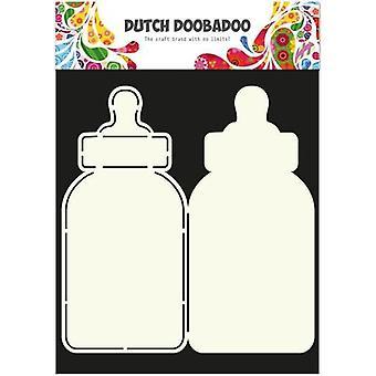 Néerlandais Doobadoo Dutch Card Art Stencil baby bottle A4 2x 21,5x10cm 470.713.582