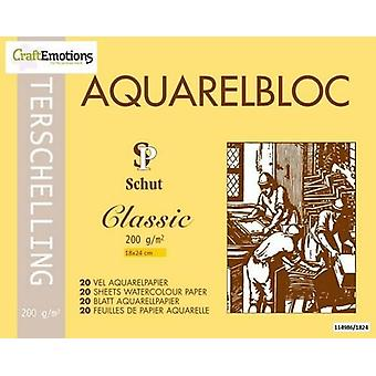 Schut Terschelling Watercoloured pad Classic 18x24cm 200 gram - 20 sheets