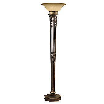 Ópera ouro & Amber chão lâmpada moderna - Elstead iluminação Fe / ópera TCH