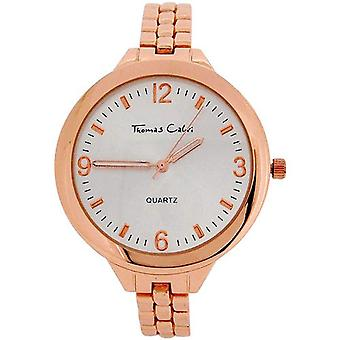 Thomas Calvi Ladies Silver Dial Rose Goldtone Casing & Bracelet Strap Watch