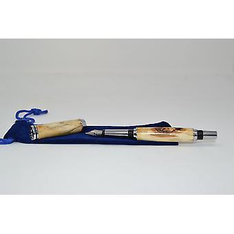 Wood Fueller Fuellfeather Pen opvoorraad berken houten vulpen handgemaakte cadeau cadeau idee unieke schroefdop
