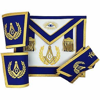 Lodge master mason apron set apron,collar gauntlets (cuffs)