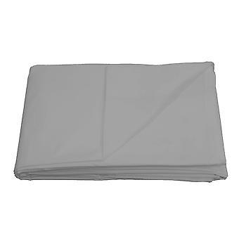 100% algodón egipcio 200 hilo cuenta hoja plana plata -
