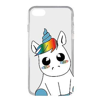 Couverture mobile Iphone 7/8 KSIX Flex TPU Licorne