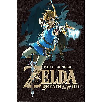 Zelda Atem des wilden Spiel Abdeckung Maxi Poster