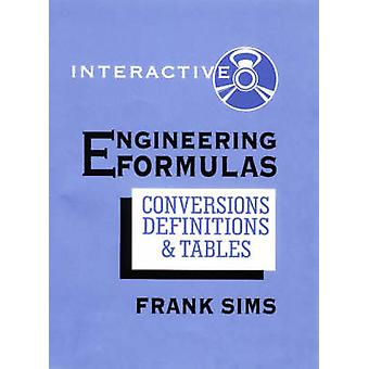 Engineering Formulas Interactive by Frank Sims - 9780831130879 Book