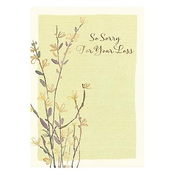 Hallmark So Sorry For Your Loss - Sympathy Bereavement Card 25454350