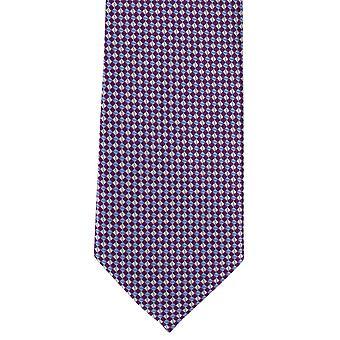 מייקלסון של לונדון מיקרו רשת פוליאסטר עניבה-סגול
