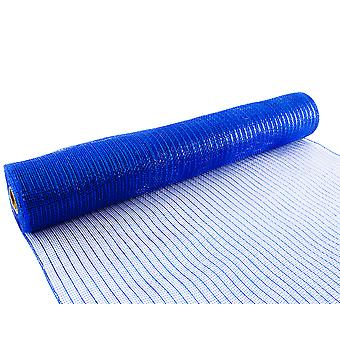 Metallic Royal Blue 53cm x 9.1m Deco Mesh Roll for Wreath Making, Floristry & Crafts