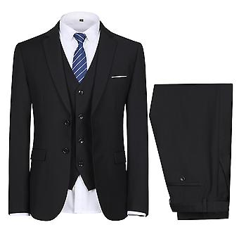 Allthemen Men es Suit Wedding Party Dinner 3-Pieces Suit Blazer Vest Pants 9 Farben