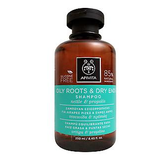 Apivita Oily Roots & Dry Ends Shampoo with Nettle & Propolis 8.45 OZ
