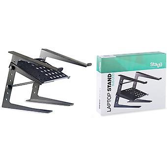 Professionele Laptop bureaustandaard met Extra plank - zwart