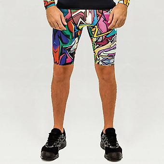 Does - Men's sports pants with graffiti design