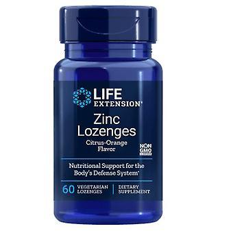 Zink Lutscher - natürliche Zitrus-Orange Geschmack (60 Veggie Lutschtabletten) - Life Extension