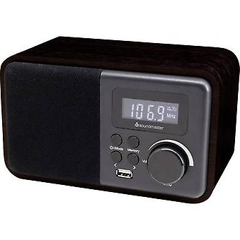 soundmaster TR250 Skrivebord radio FM Bluetooth, USB Wood