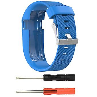 Bracciale Bracelet Band Strap per Fitbit Charge HR Replacement[Large, Light Blue]